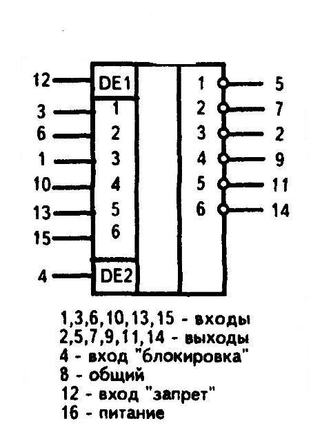 К561ЛН1 - функциональная схема одного элемента