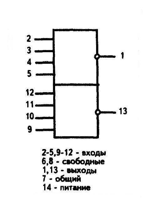 К561ЛА8 - условное графическое изображение