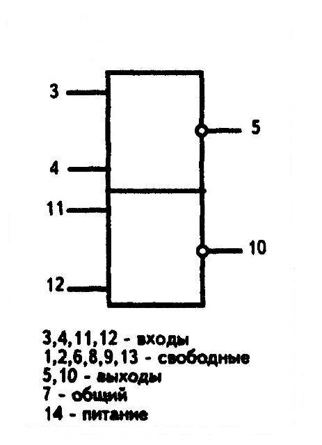 564ЛА10 - условное графическое изображение