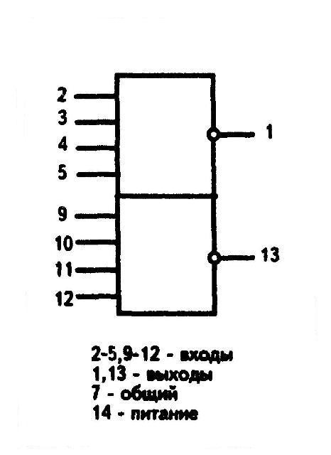 К561ЛЕ6 - условное графическое изображение