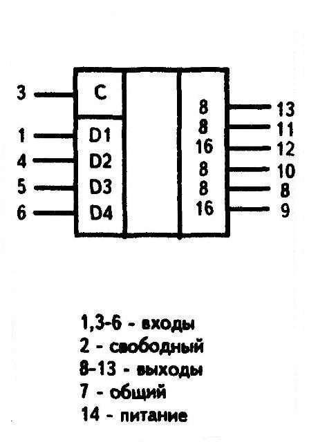 К176ИР10 (CD4006) - условное графическое изображение