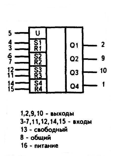 К561ТР2 - условное графическое изображение
