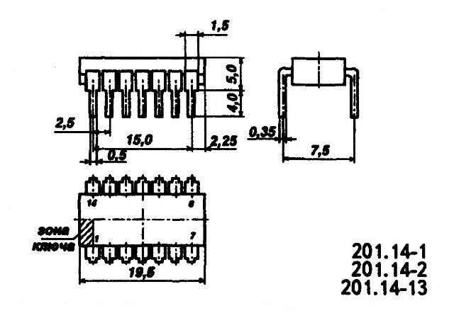 К176ЛИ1 - корпус микросхемы