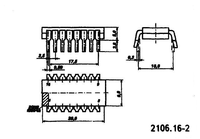 К176РУ2, К561РУ2 ( CD4061A ) - корпус микросхемы