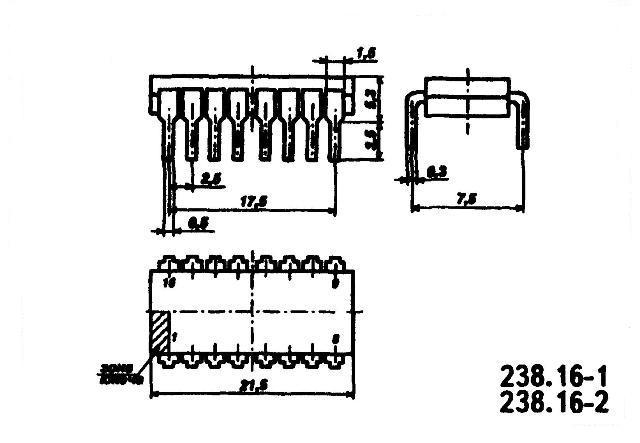 К561ИМ1, К176ИМ1 (CD4008A) - корпус микросхемы