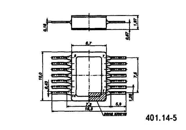 564ЛА10 - корпус микросхемы
