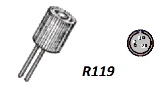Корпус транзистора  2N4069