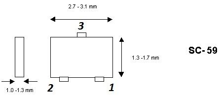 Корпус транзистора  2SA1455K