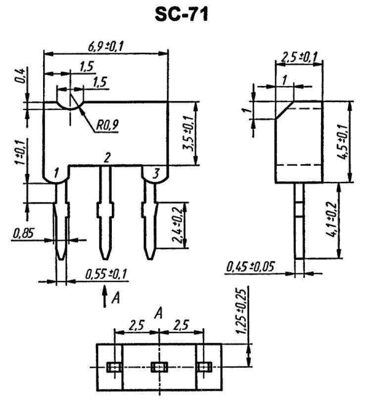 Корпус транзистора  2SA937AQ