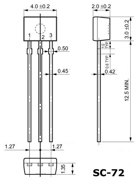 Корпус транзистора  2SA854S