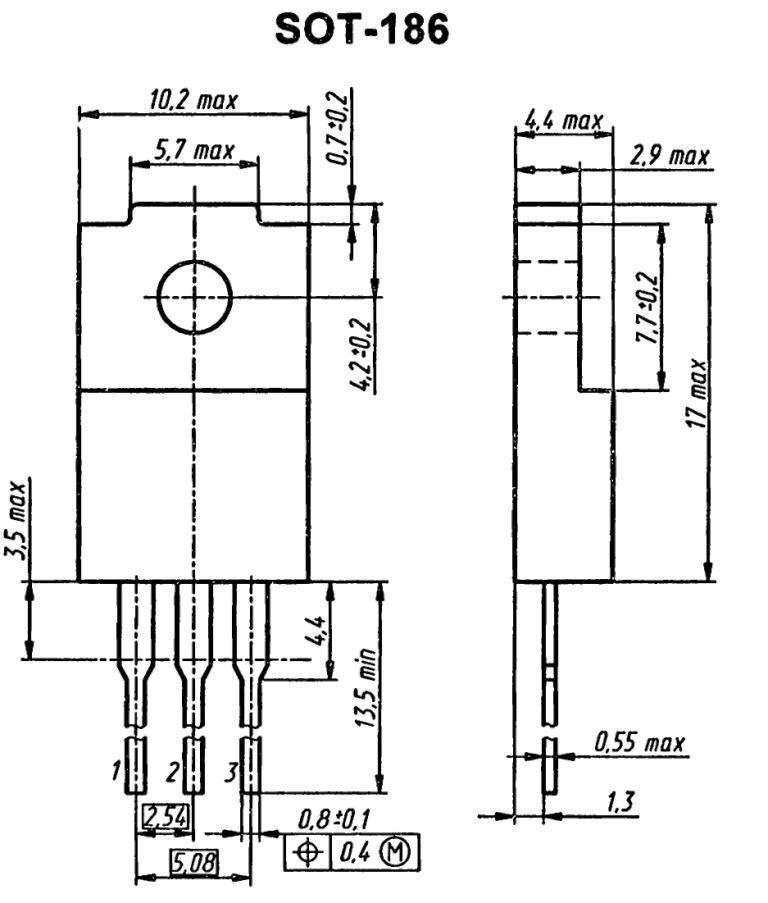 Корпус транзистора   2SB952