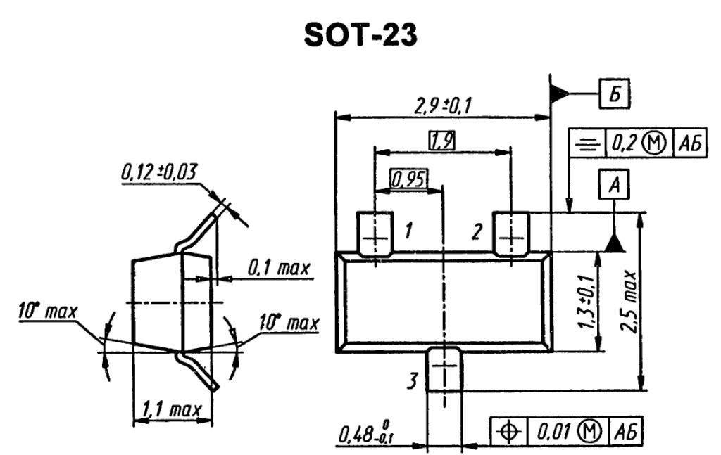 Корпус транзистора BC808