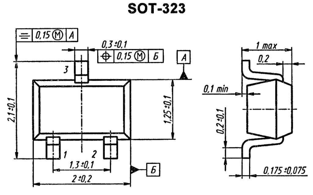 Корпус транзистора BC857AWT1