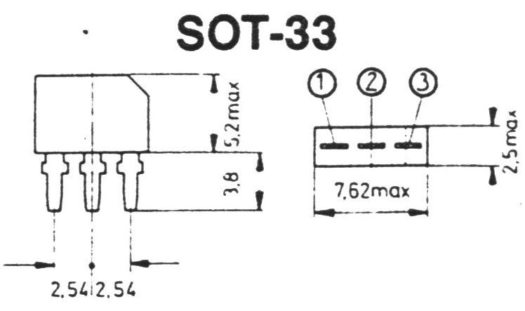 Корпус транзистора   2SB1117K