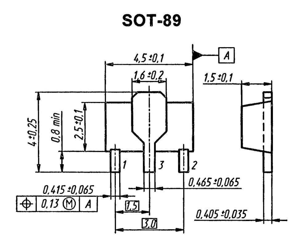 Корпус транзистора BC868