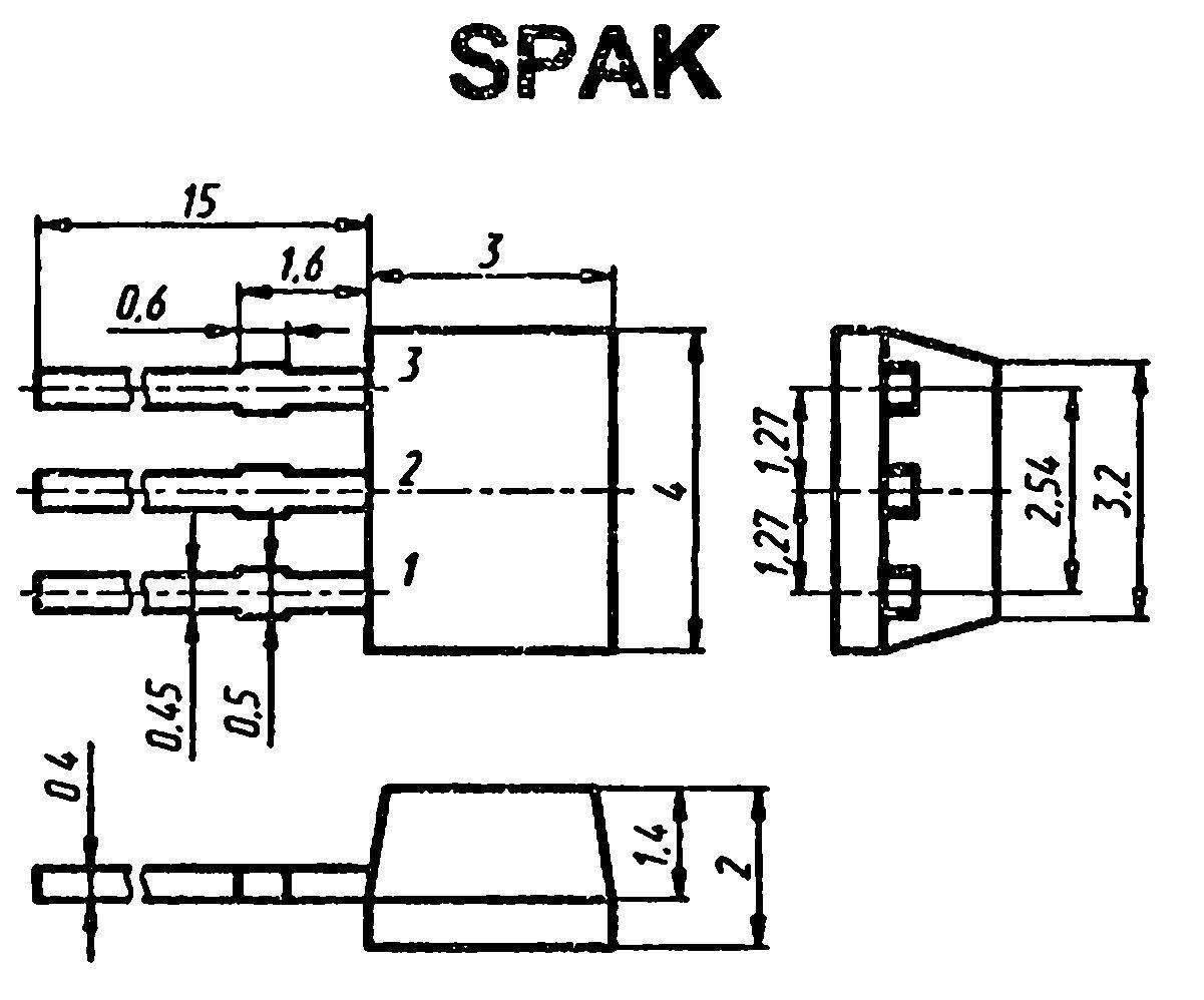 Корпус транзистора  2SA821SN
