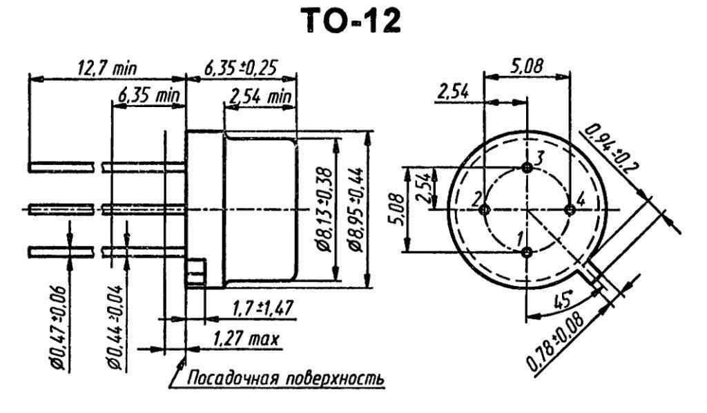 Корпус транзистора  2N2671