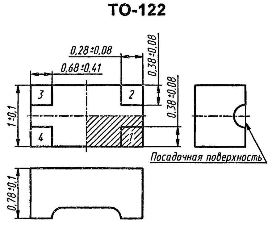Корпус транзистора  2SA977A