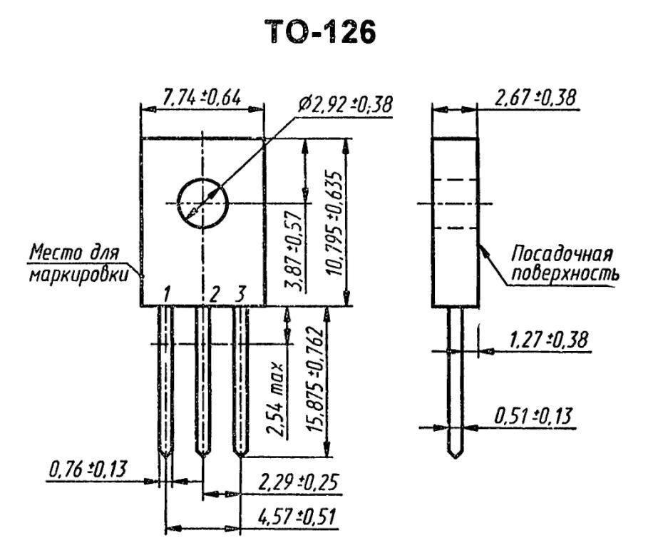 Корпус транзистора  2SA977