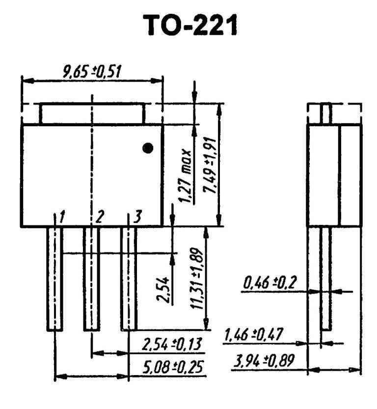 Корпус транзистора  2SA1458