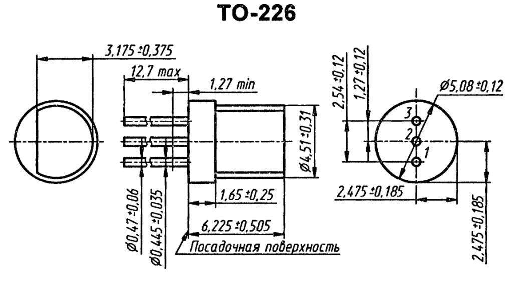 Корпус транзистора BF340