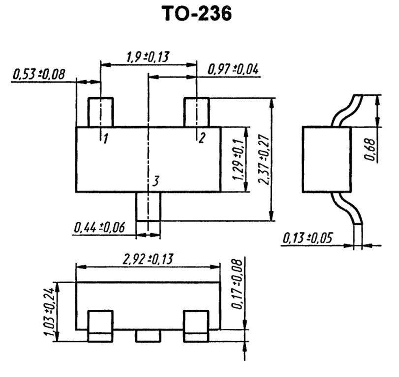 Корпус транзистора  2SA1577