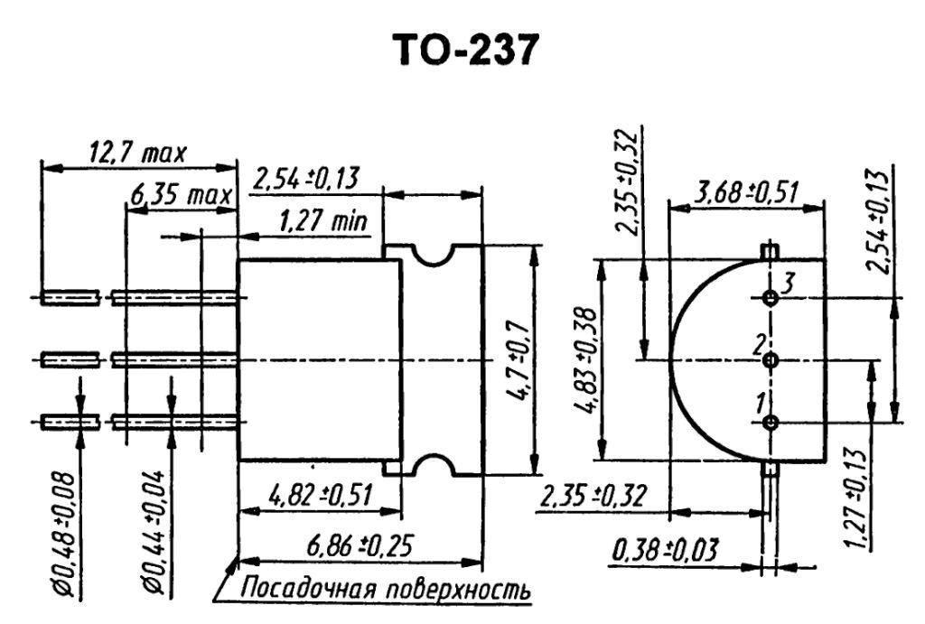 Корпус транзистора BD371A