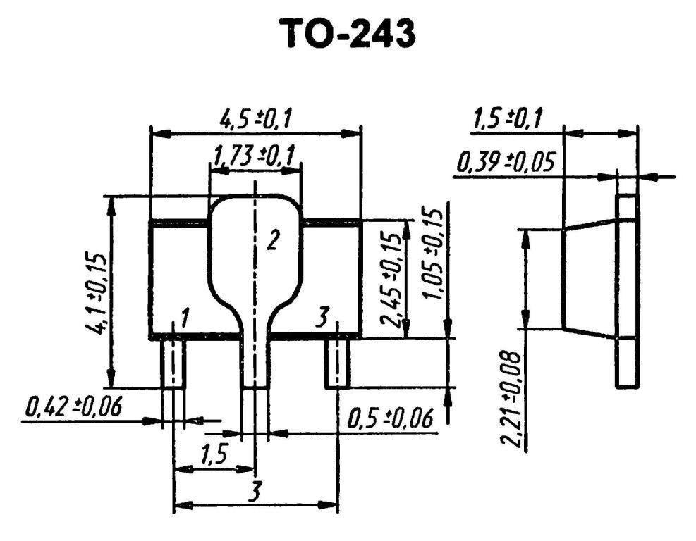Корпус транзистора  2SA1797P