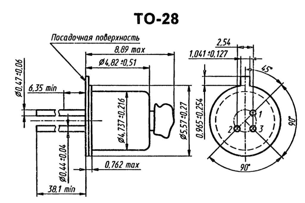 Корпус транзистора  2N559