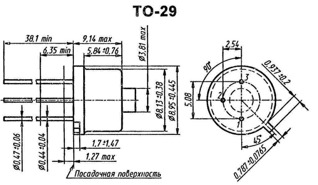 Корпус транзистора  2N560