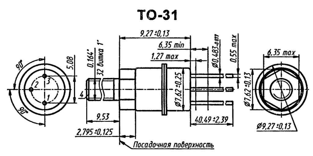 Корпус транзистора  2N3604