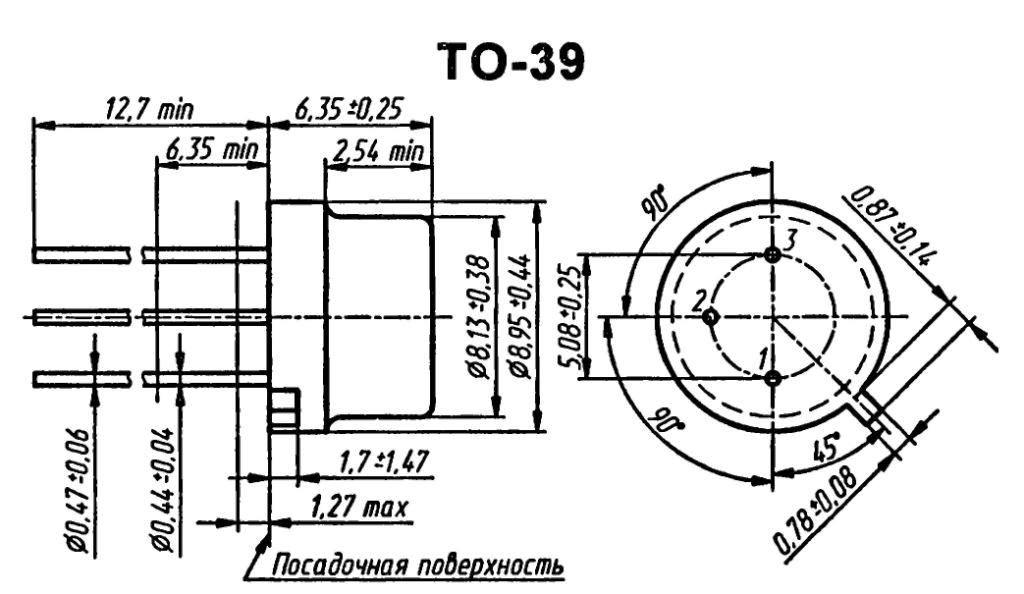 Корпус транзистора  2SA504