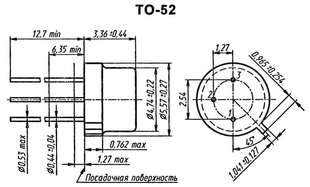 Корпус транзистора  2N4074