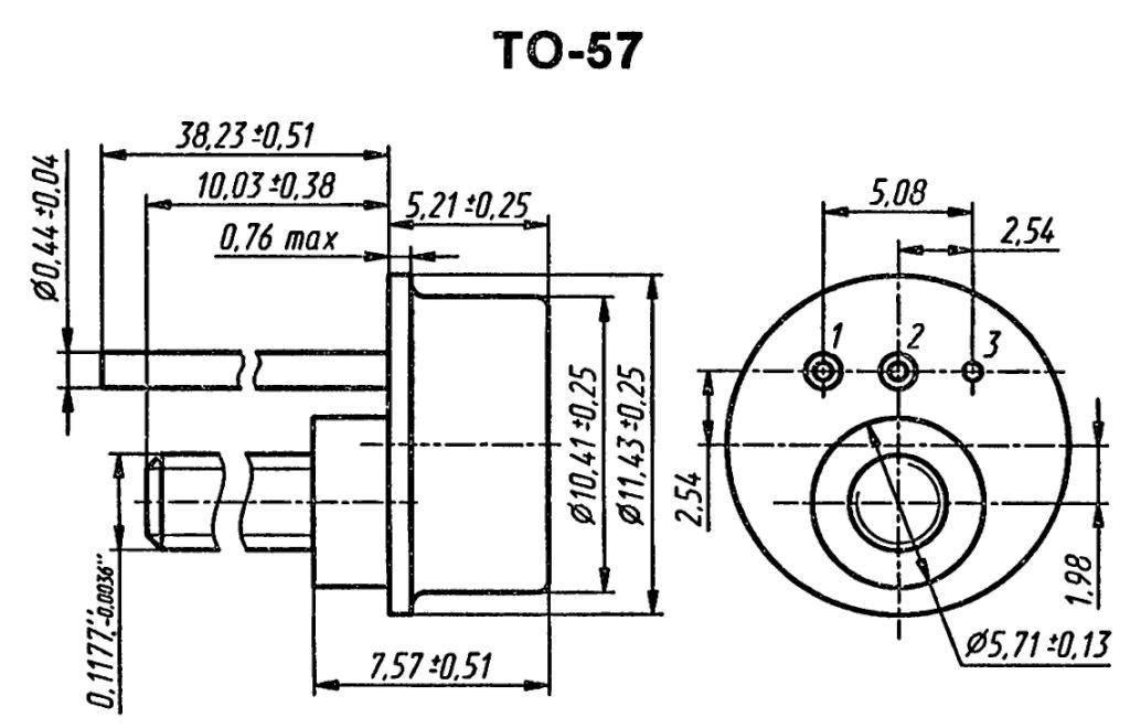 Корпус транзистора 2N1050A