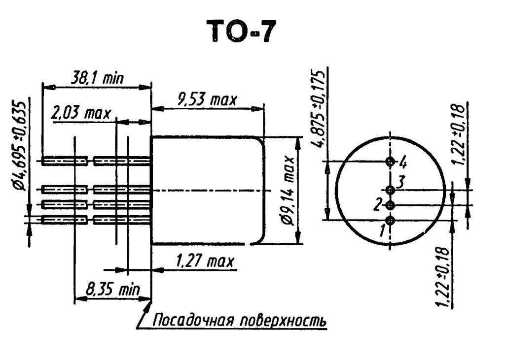 Корпус транзистора  2N374