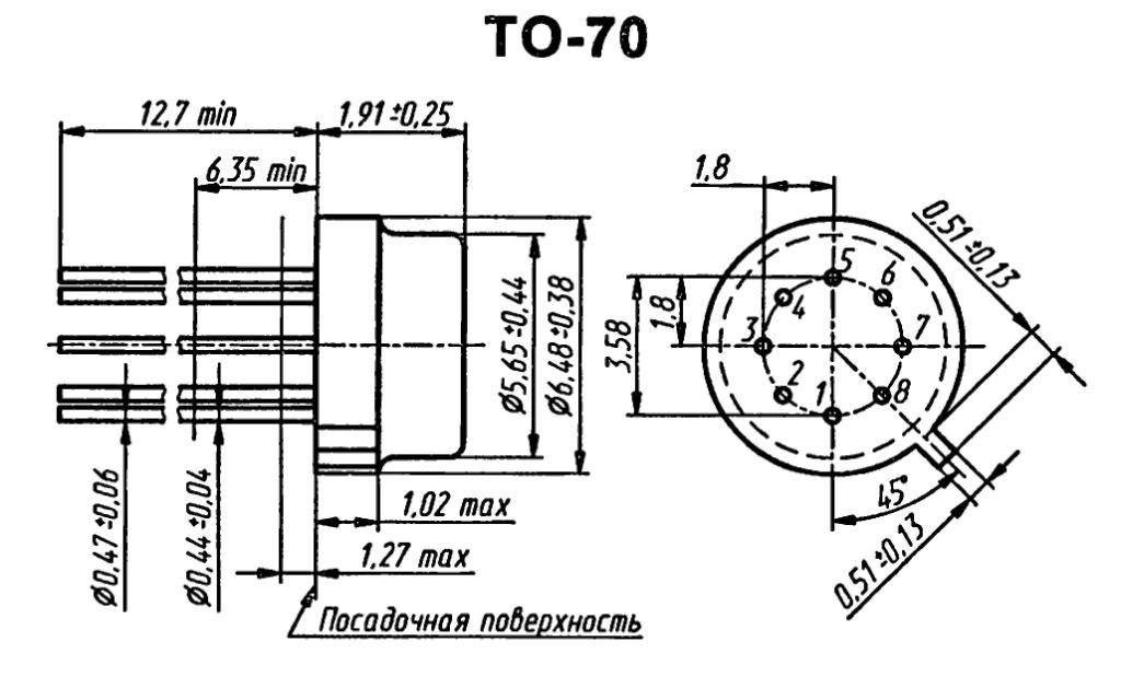 Корпус транзистора  2N4100
