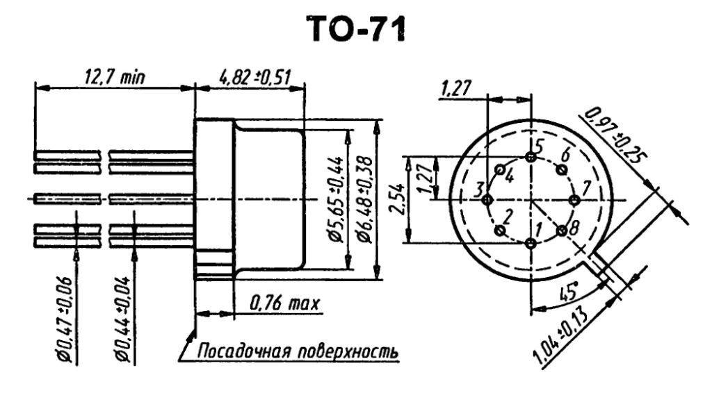 Корпус транзистора  2N4879