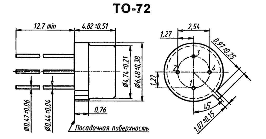Корпус транзистора  2N2363