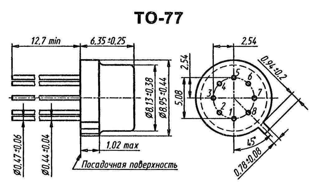 Корпус транзистора  2N2920