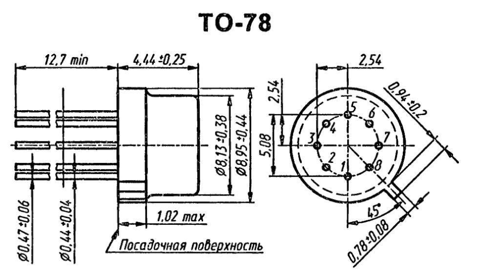 Корпус транзистора  2N6086