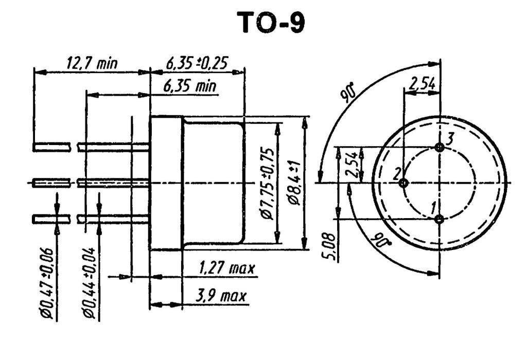 Корпус транзистора  2N502
