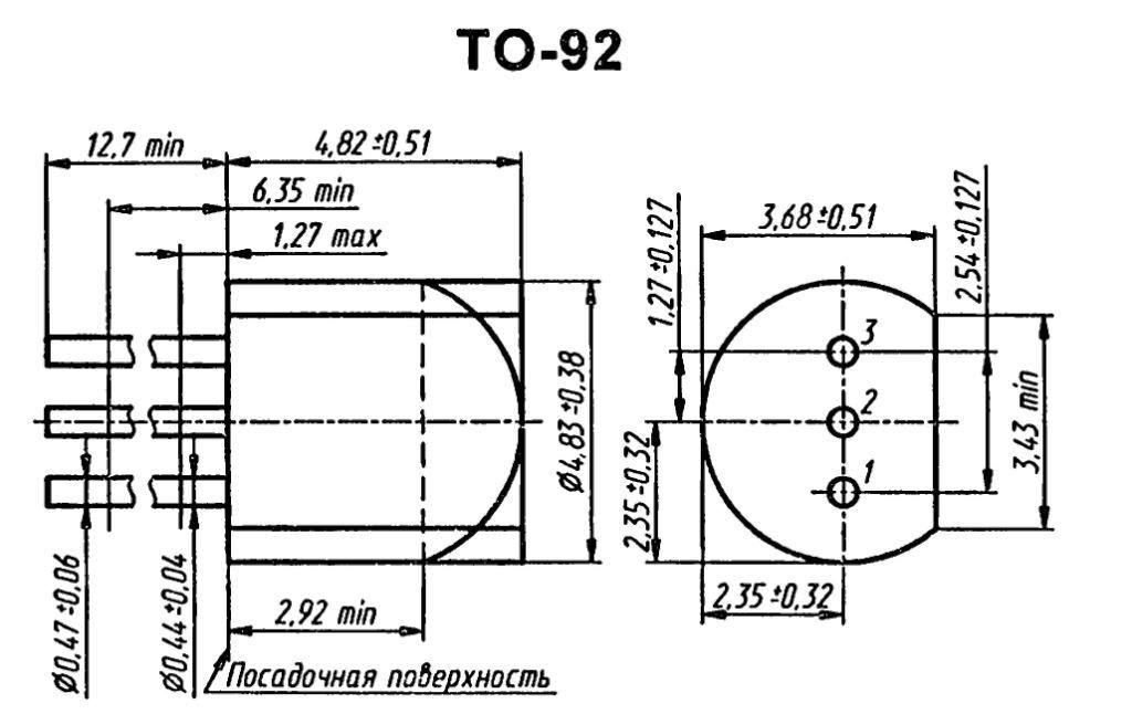 Корпус транзистора  2N6222