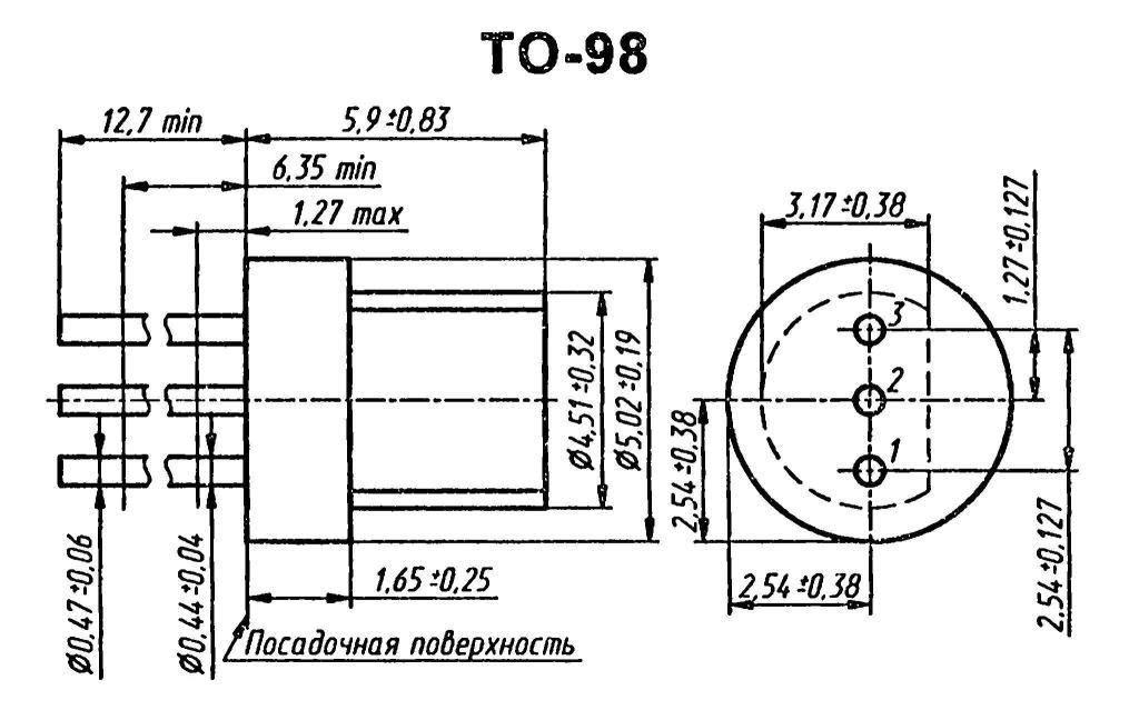 Корпус транзистора  2N3397