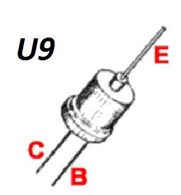 Корпус транзистора  2N907