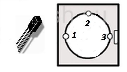 Корпус транзистора AC127-01