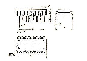 Корпус микросхемы К155ИР32 (74170)