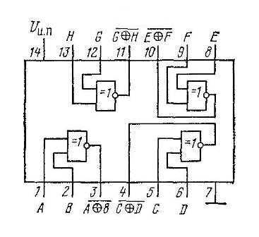 КР1561ЛП14 - структурная схема
