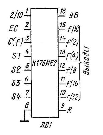К176ИЕ2 - цоколёвка