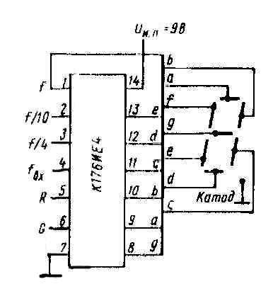 Назначение счетчиков К176ИЕ4 и