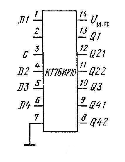 К176ИР10 (CD4006) - цоколёвка